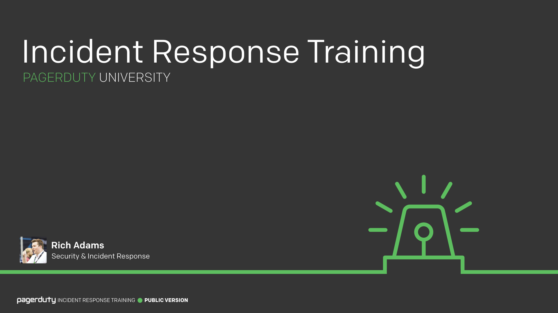 Incident Response Training Pagerduty Incident Response